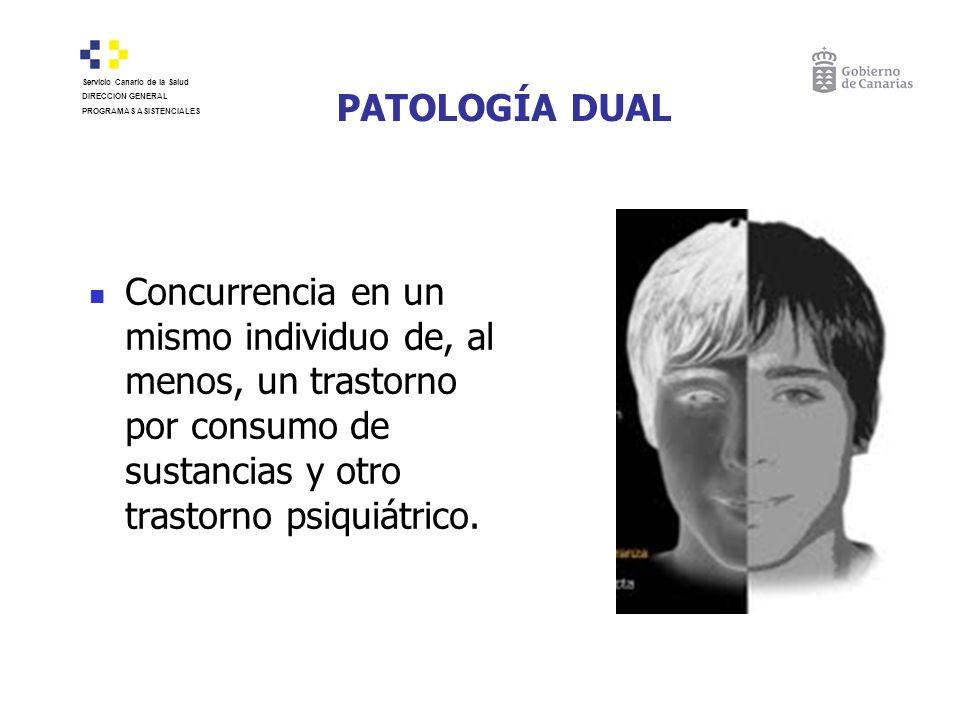 PATOLOGÍA DUAL Servicio Canario de la Salud. DIRECCIÓN GENERAL. PROGRAMAS ASISTENCIALES.
