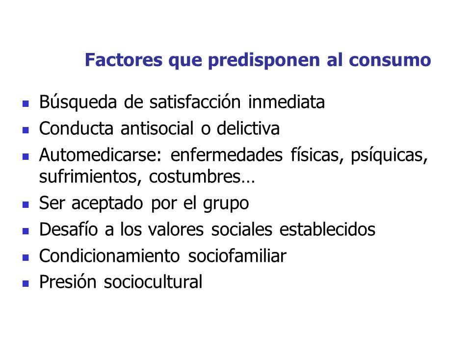 Factores que predisponen al consumo
