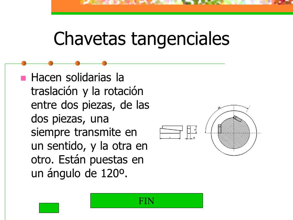 Chavetas tangenciales