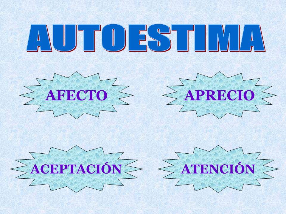AUTOESTIMA AFECTO APRECIO ACEPTACIÓN ATENCIÓN