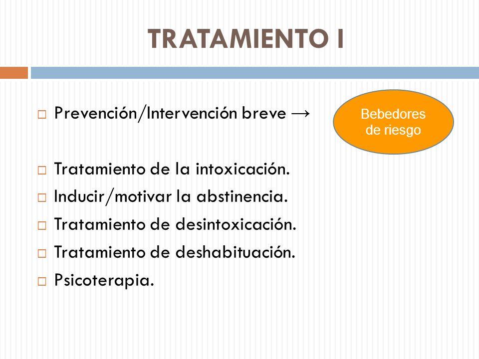TRATAMIENTO I Prevención/Intervención breve →