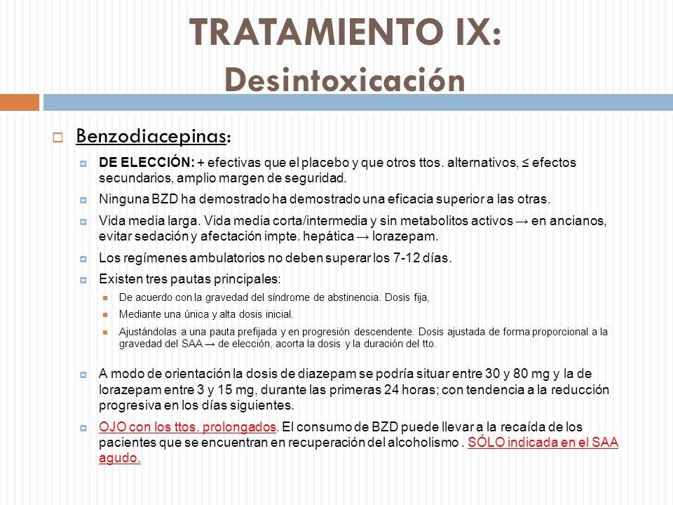 TRATAMIENTO IX: Desintoxicación