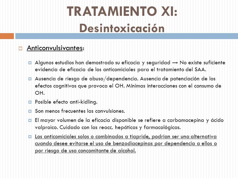 TRATAMIENTO XI: Desintoxicación
