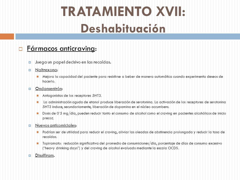 TRATAMIENTO XVII: Deshabituación