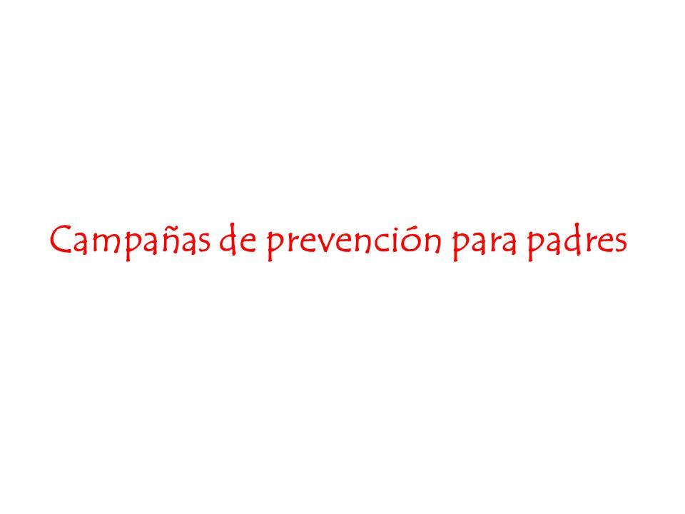 Campañas de prevención para padres