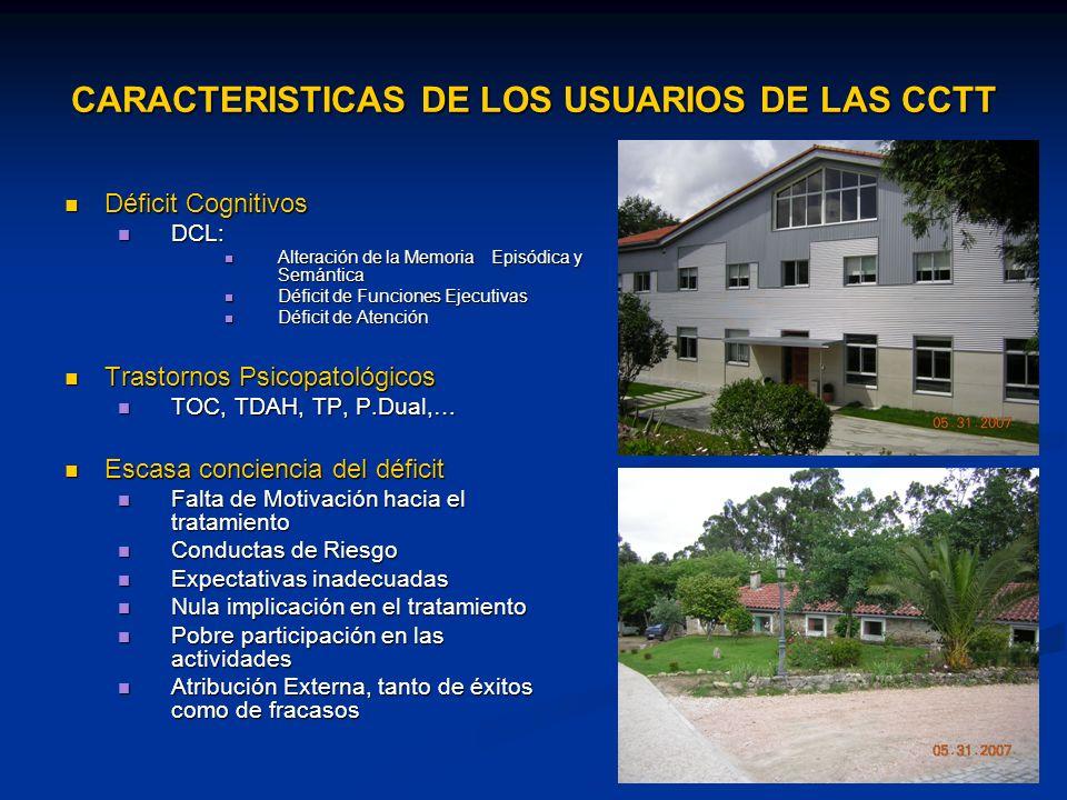 CARACTERISTICAS DE LOS USUARIOS DE LAS CCTT