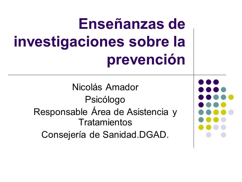 Enseñanzas de investigaciones sobre la prevención