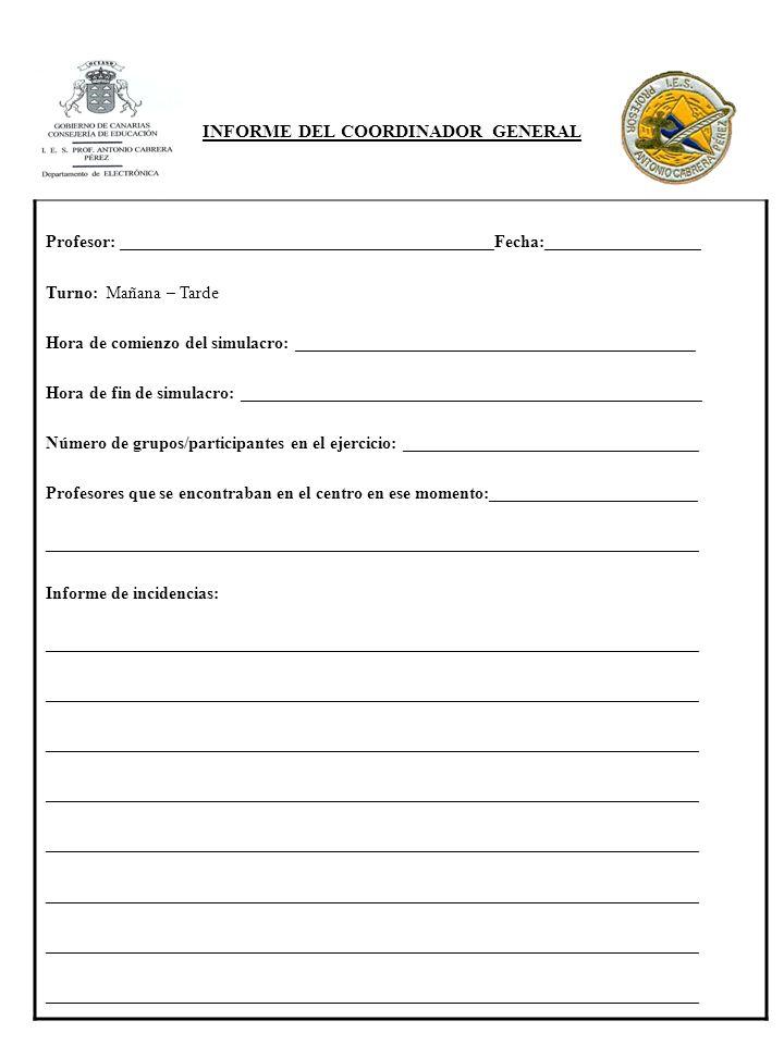 INFORME DEL COORDINADOR GENERAL