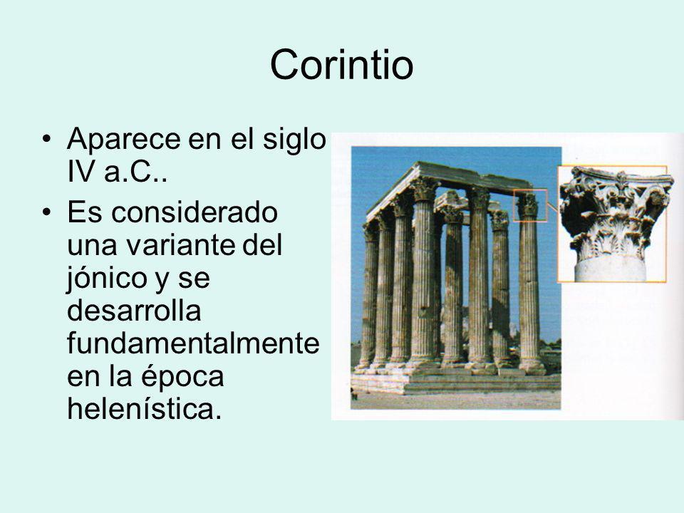 Corintio Aparece en el siglo IV a.C..
