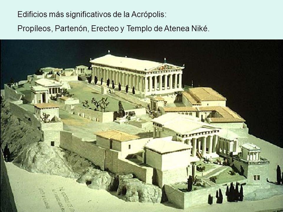 Edificios más significativos de la Acrópolis: