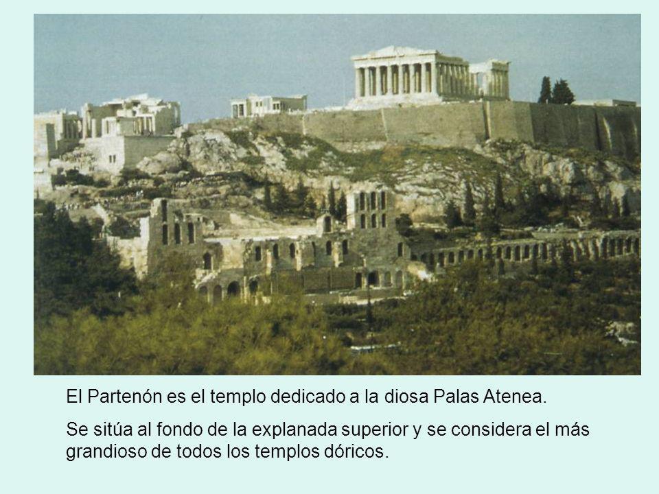 El Partenón es el templo dedicado a la diosa Palas Atenea.