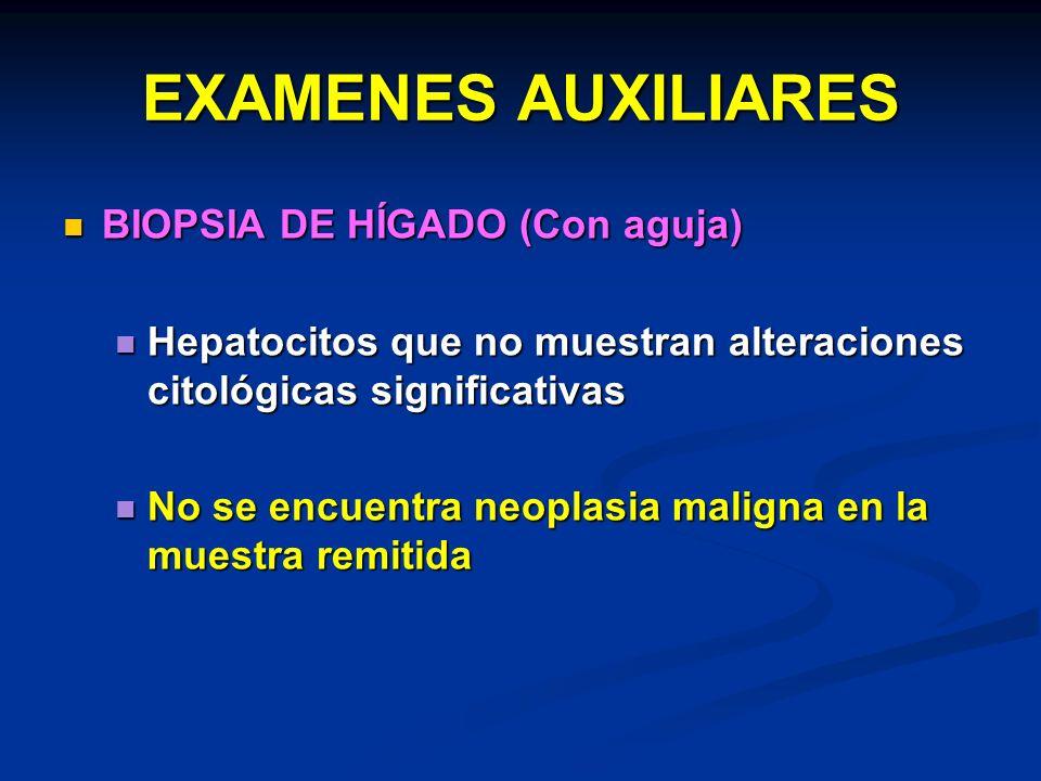 EXAMENES AUXILIARES BIOPSIA DE HÍGADO (Con aguja)