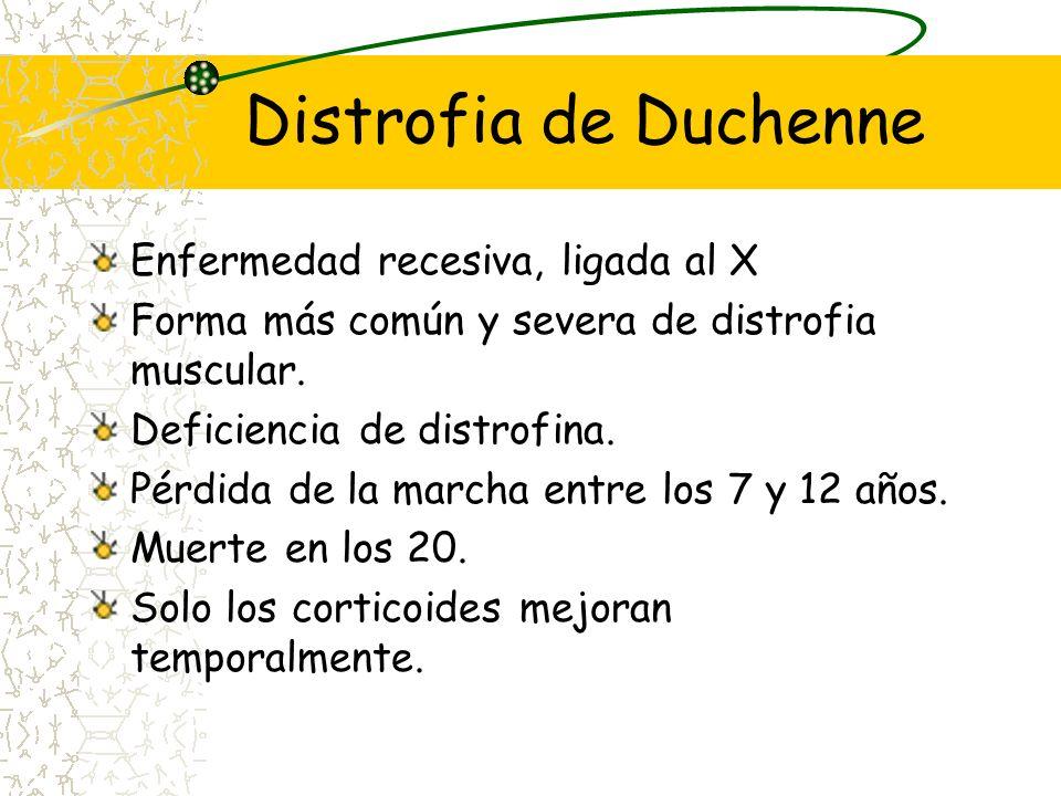 Distrofia de Duchenne Enfermedad recesiva, ligada al X