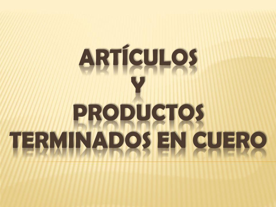 ARTÍCULOS Y PRODUCTOS TERMINADOS EN CUERO