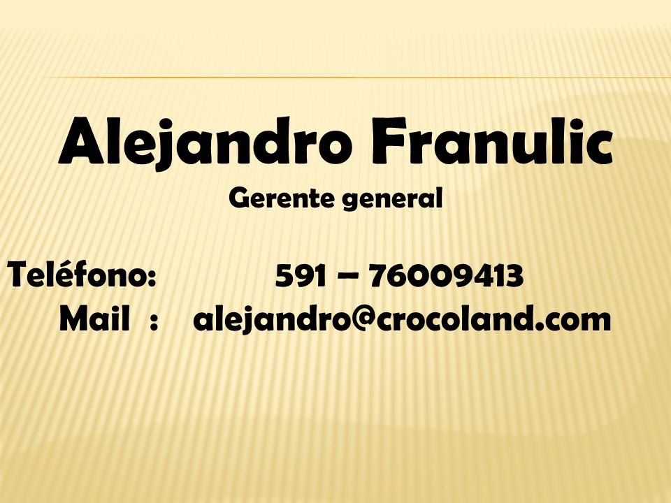 Mail : alejandro@crocoland.com