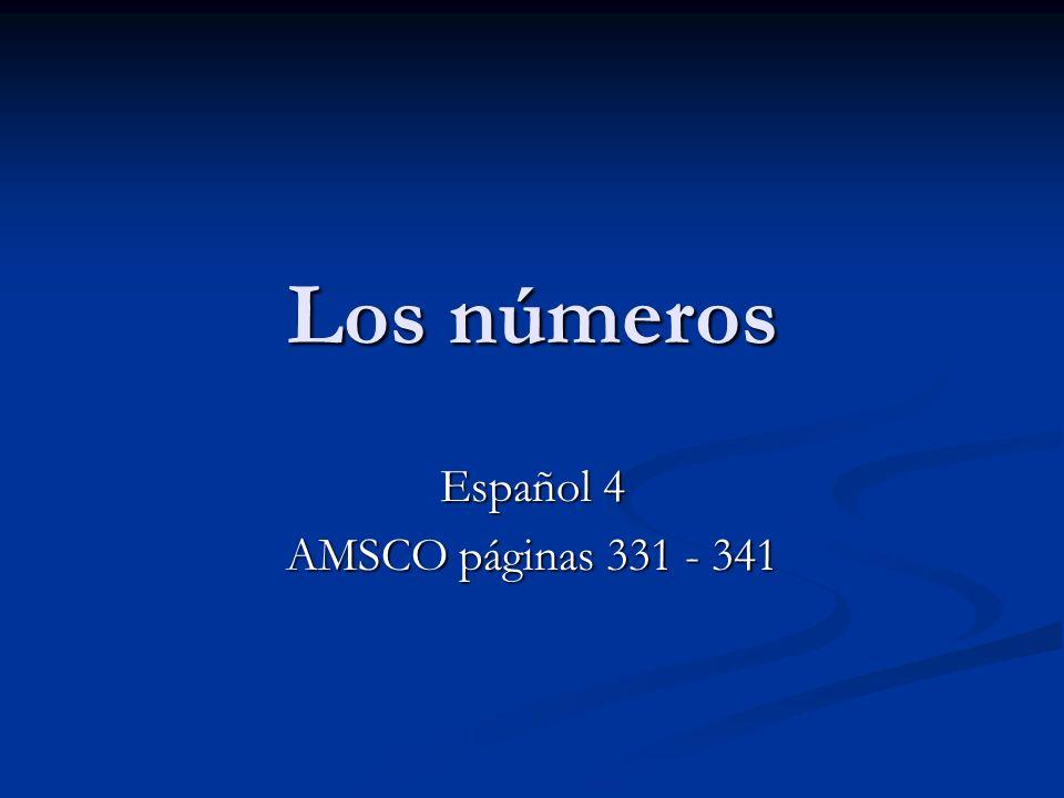 Español 4 AMSCO páginas 331 - 341