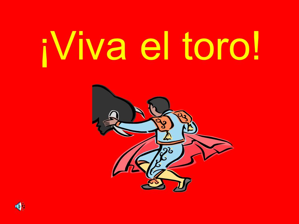 ¡Viva el toro!