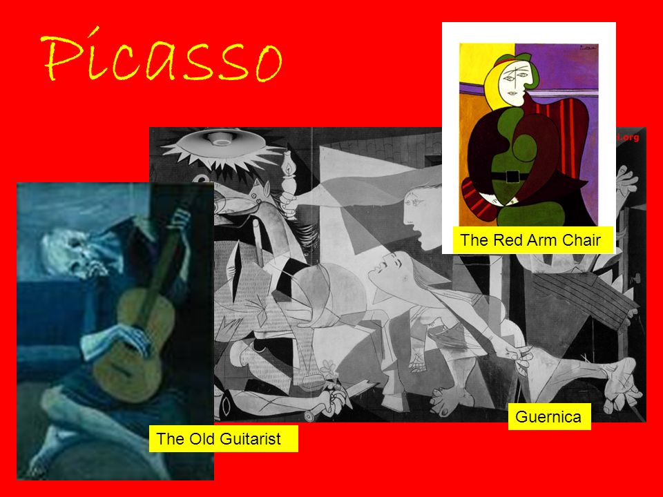 Picasso The Red Arm Chair Guernica The Old Guitarist