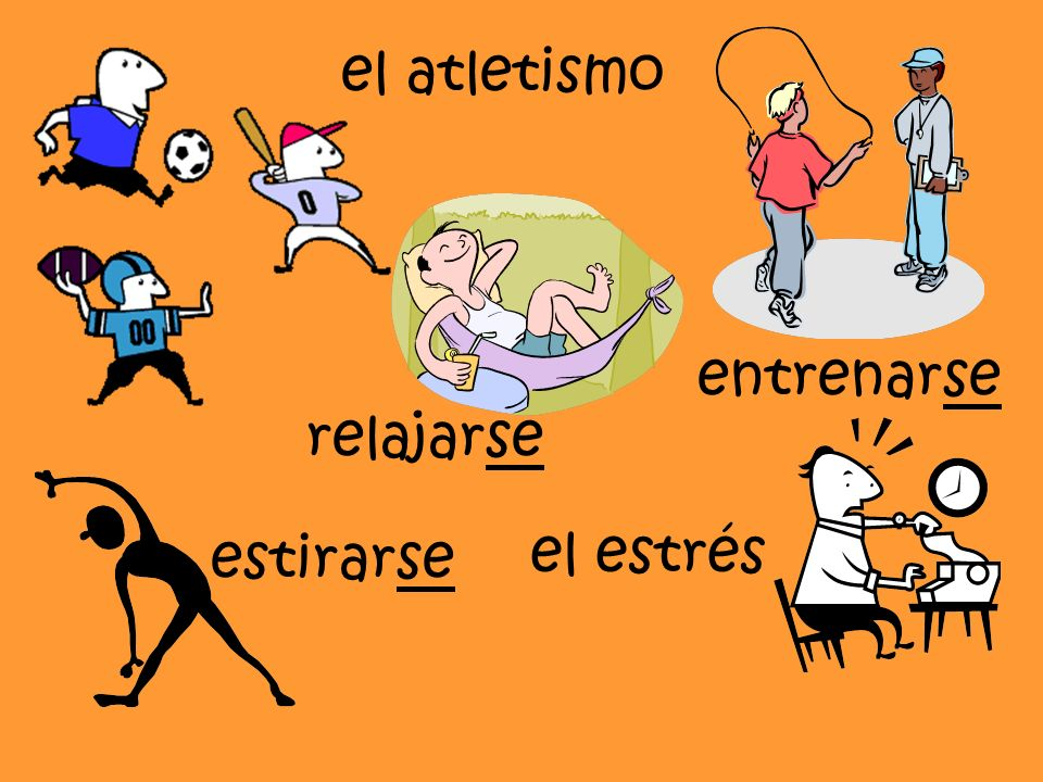 el atletismo entrenarse relajarse estirarse el estrés