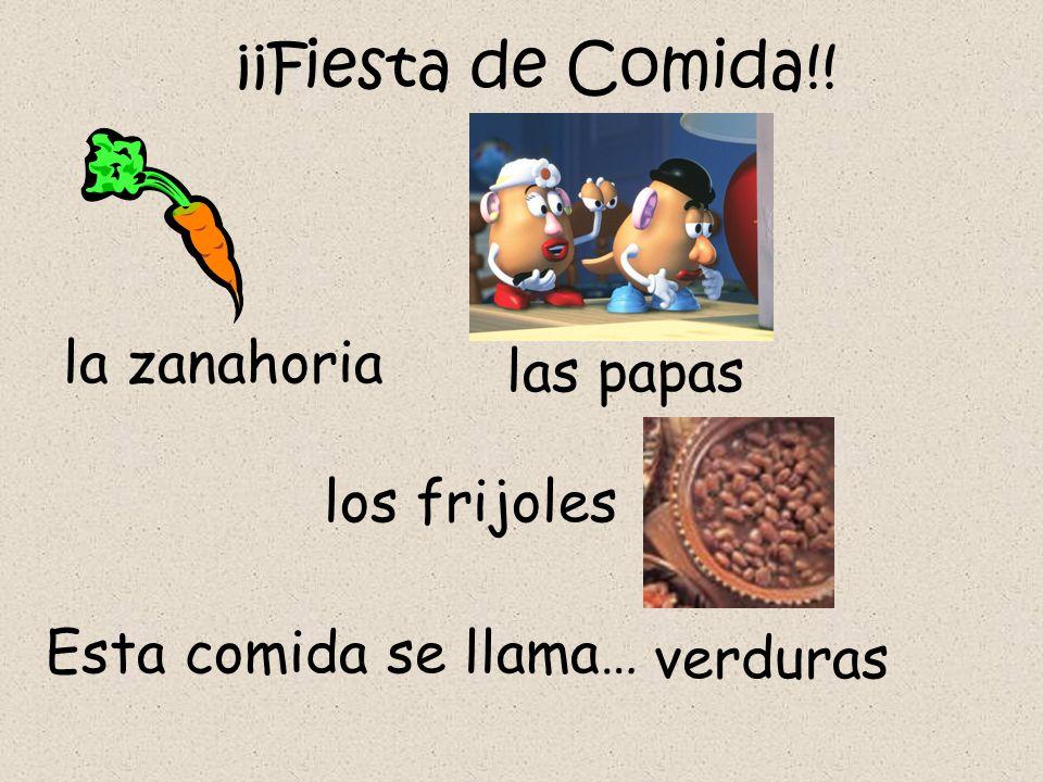 ¡¡Fiesta de Comida!! la zanahoria las papas los frijoles