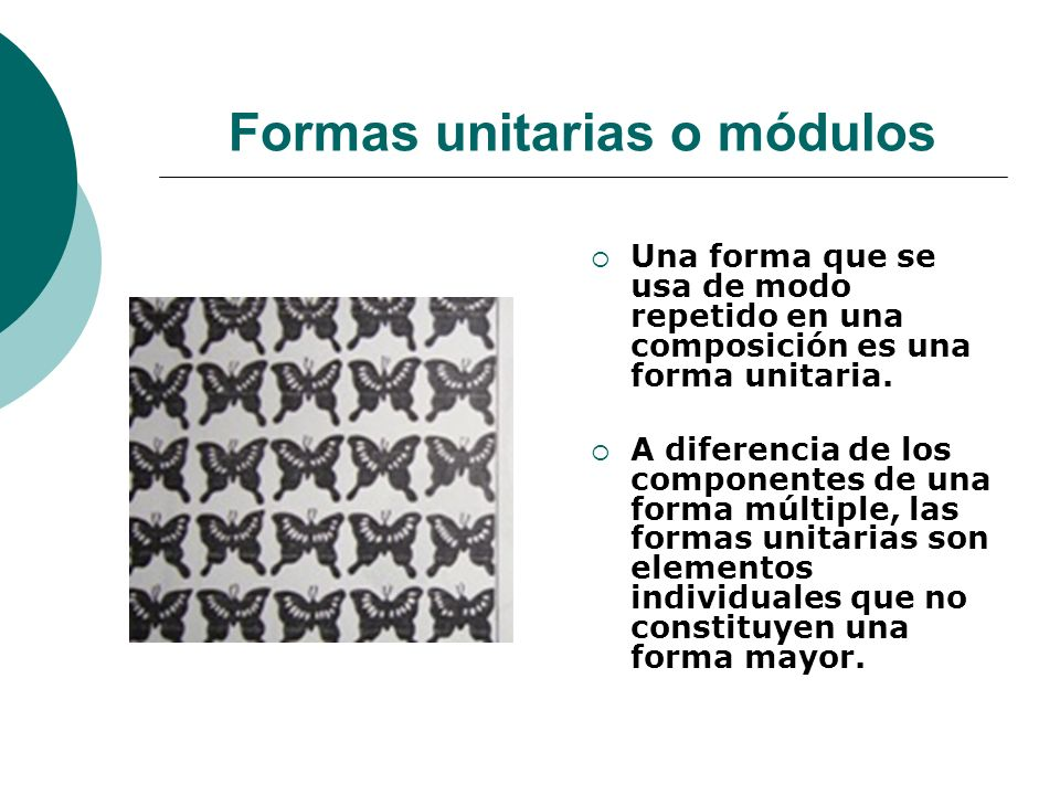 Formas unitarias o módulos