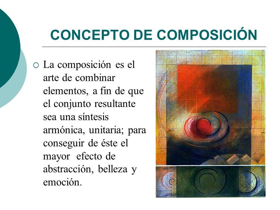 CONCEPTO DE COMPOSICIÓN