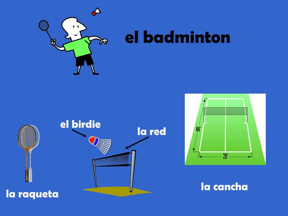 el badminton el birdie la red la cancha la raqueta