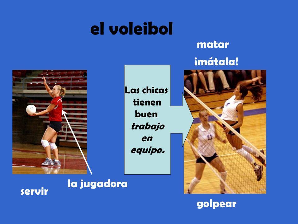 el voleibol matar ¡mátala! la jugadora servir golpear Las chicas