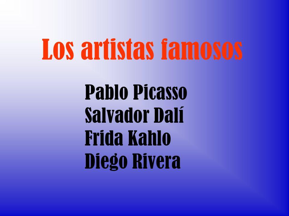 Los artistas famosos Pablo Picasso Salvador Dalí Frida Kahlo