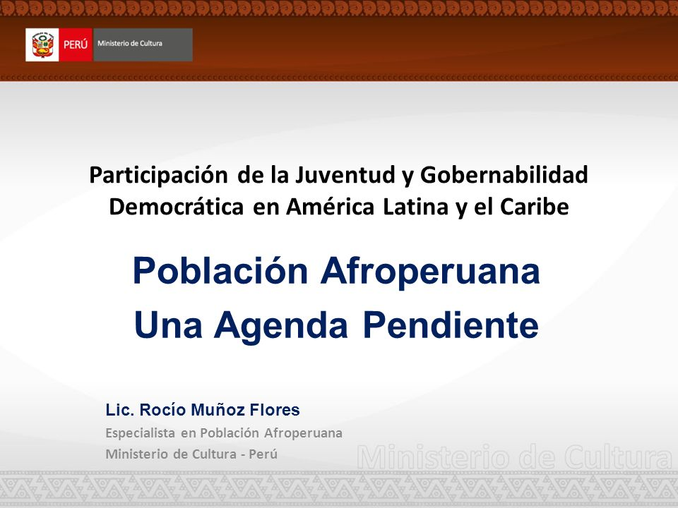 Población Afroperuana