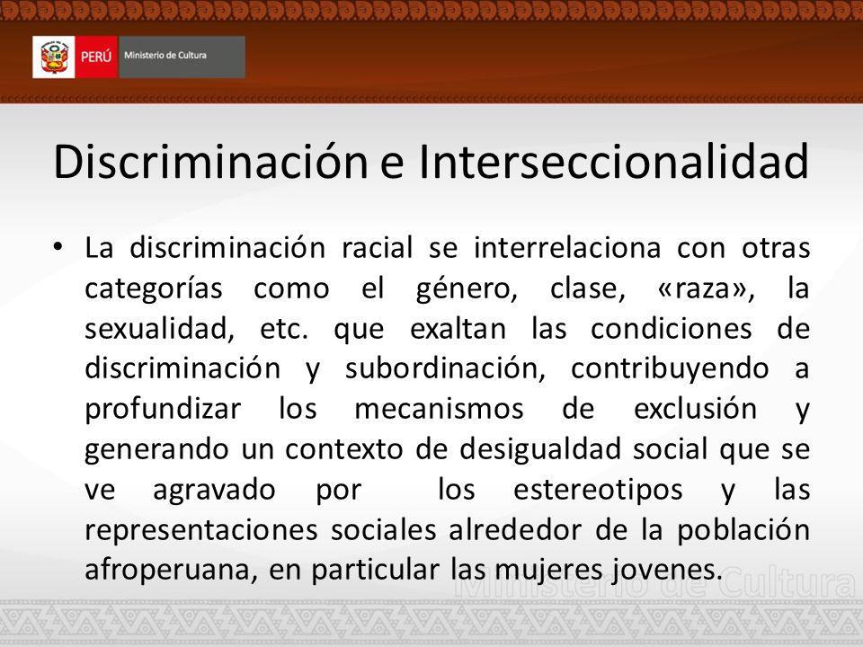 Discriminación e Interseccionalidad
