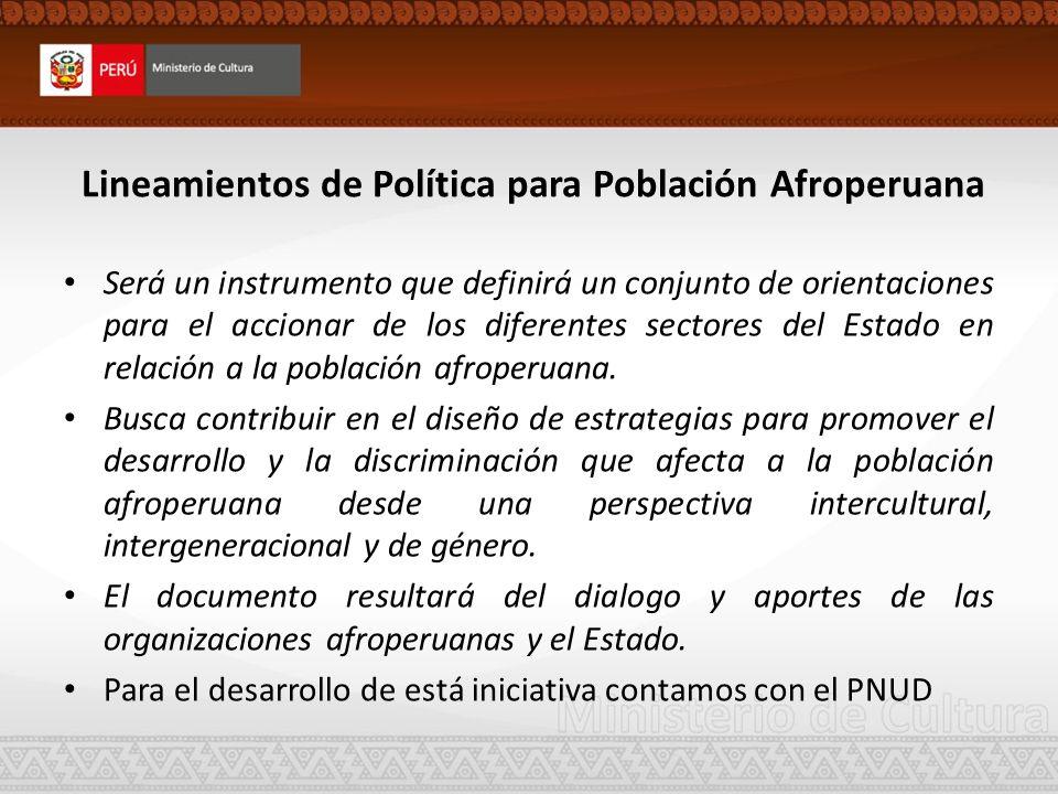 Lineamientos de Política para Población Afroperuana