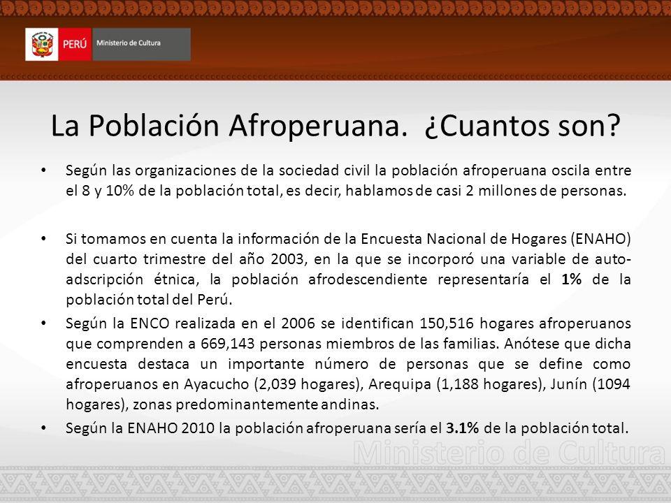 La Población Afroperuana. ¿Cuantos son