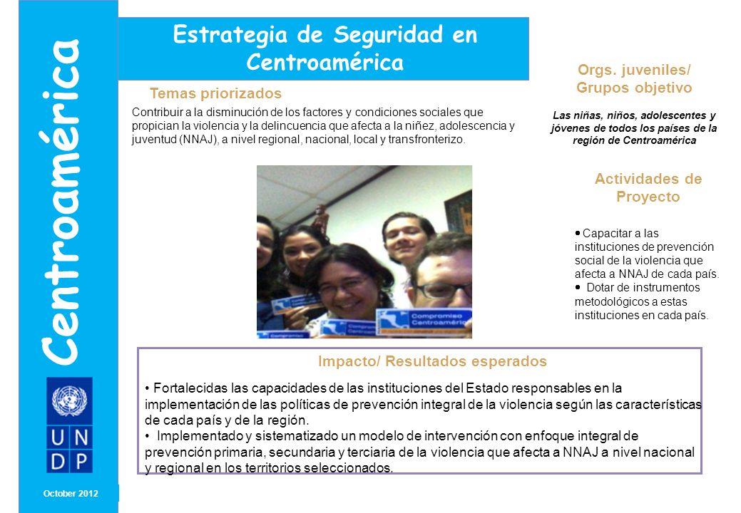 Centroamérica Estrategia de Seguridad en Centroamérica