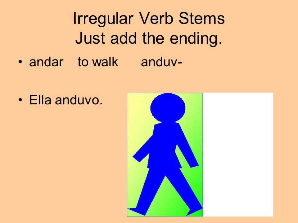 Irregular Verb Stems Just add the ending.