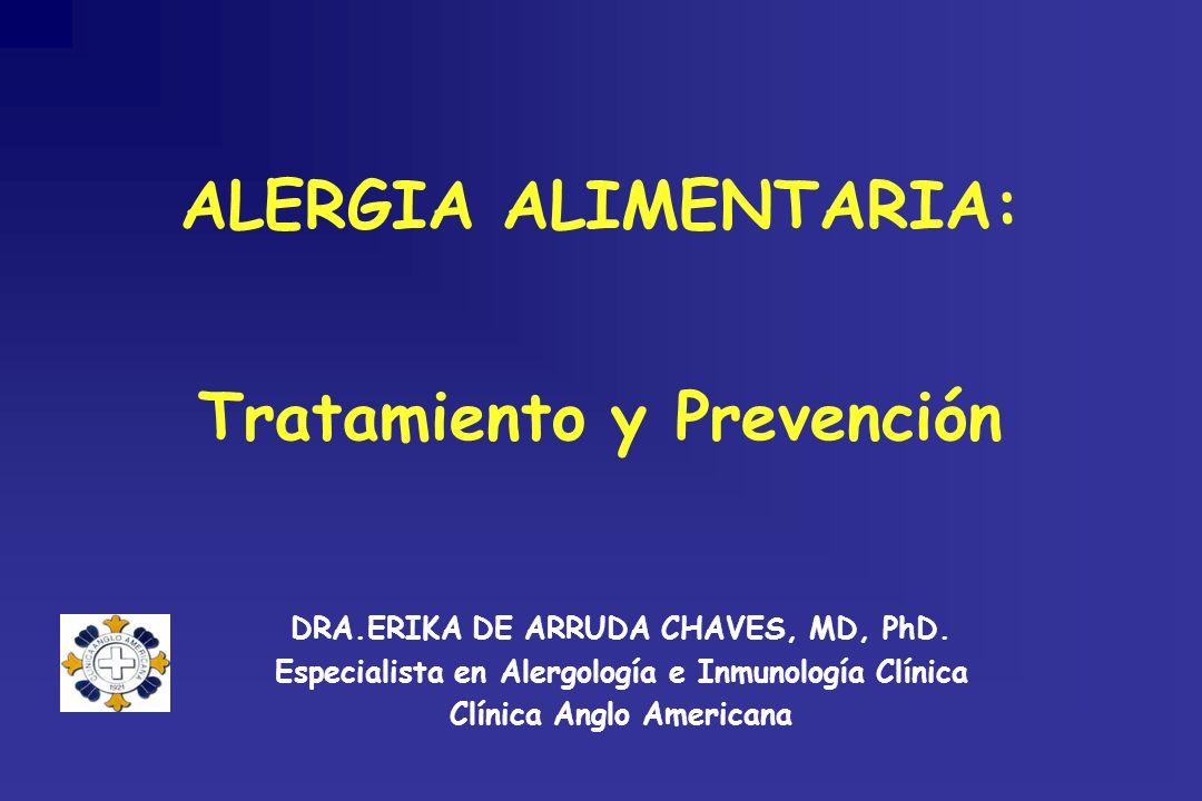 ALERGIA ALIMENTARIA: Tratamiento y Prevención