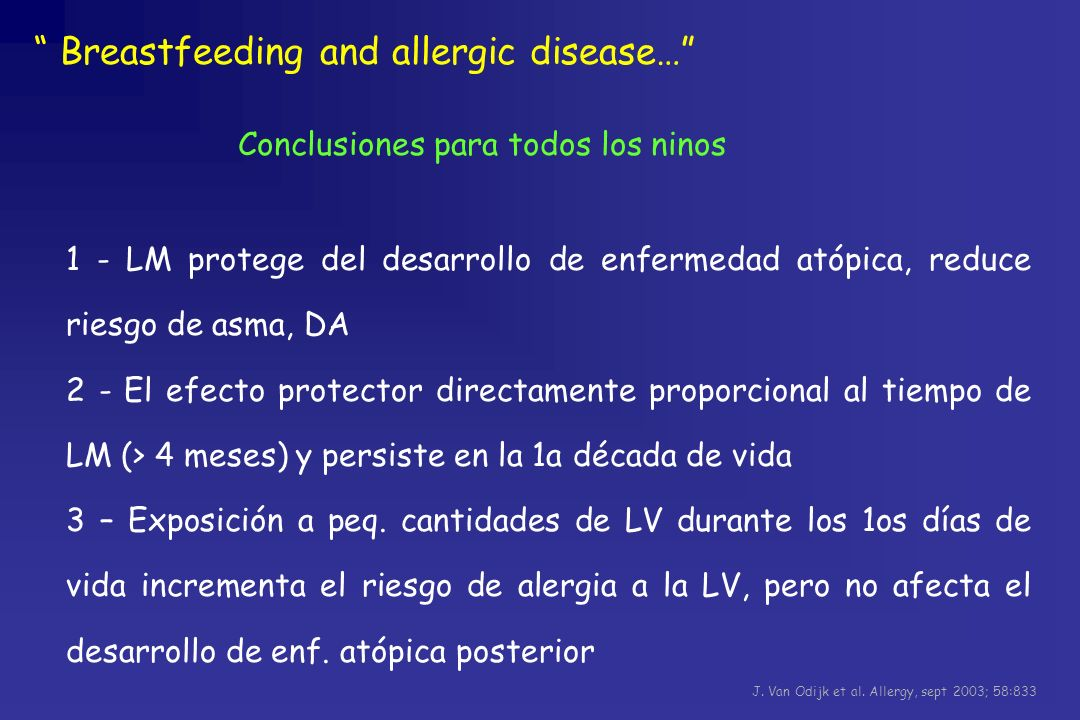 Breastfeeding and allergic disease…