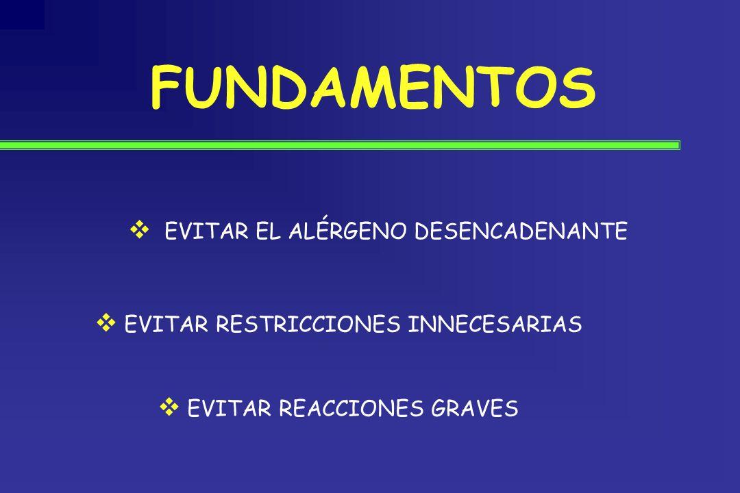 FUNDAMENTOS EVITAR EL ALÉRGENO DESENCADENANTE