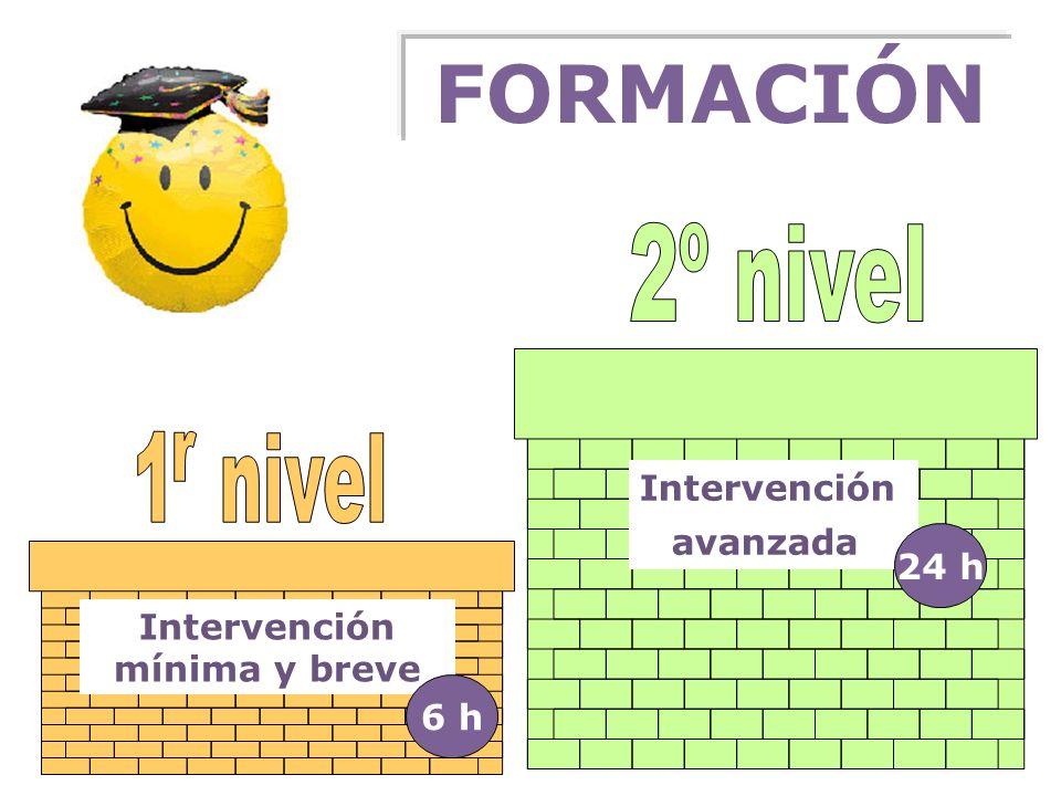 FORMACIÓN 2º nivel 1 nivel r Intervención avanzada 24 h Intervención