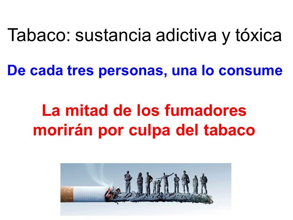 Tabaco: sustancia adictiva y tóxica