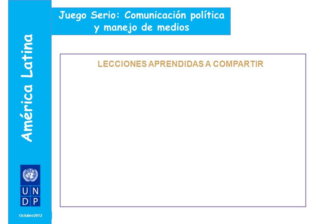 América Latina Juego Serio: Comunicación política y manejo de medios