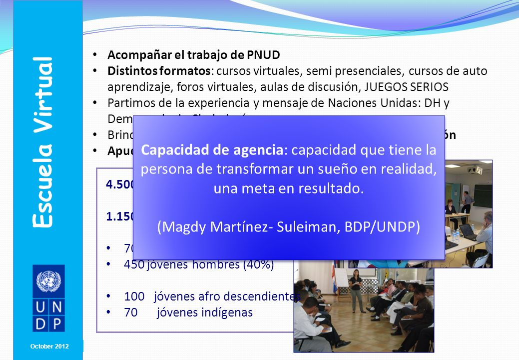 (Magdy Martínez- Suleiman, BDP/UNDP)