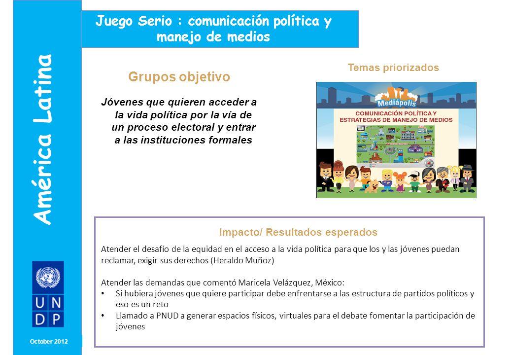 América Latina Juego Serio : comunicación política y manejo de medios