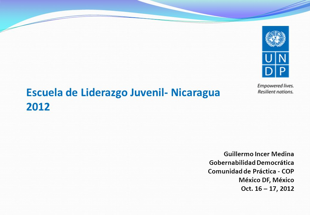 Escuela de Liderazgo Juvenil- Nicaragua 2012