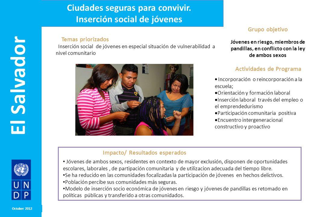 El Salvador Ciudades seguras para convivir.