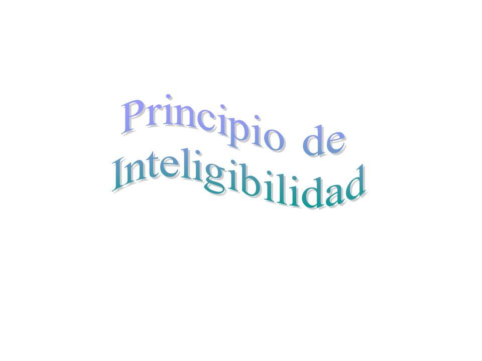 Principio de Inteligibilidad