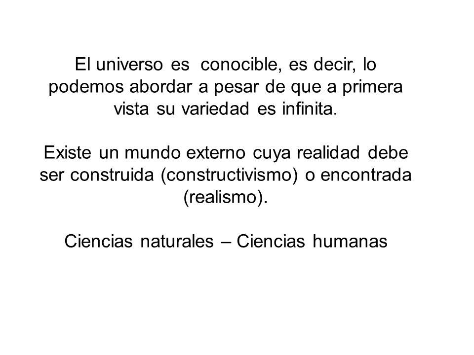 Ciencias naturales – Ciencias humanas