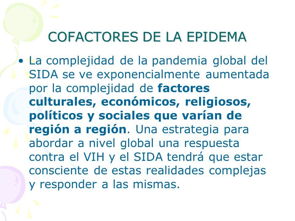 COFACTORES DE LA EPIDEMA