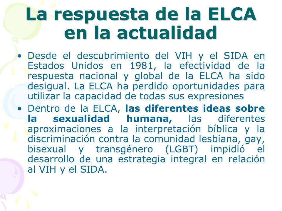La respuesta de la ELCA en la actualidad