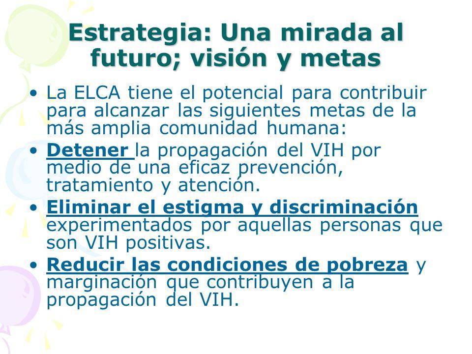 Estrategia: Una mirada al futuro; visión y metas
